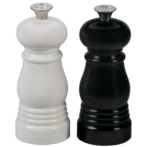 LE CREUSET SMALL SALT AND PEPPER MILLS, SET OF 2