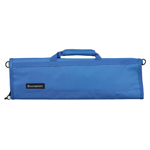 MESSERMAISTER 8-POCKET PADDED KNIFE ROLL - PACIFIC BLUE