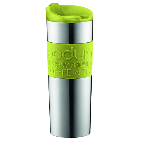 BODUM 15-OUNCE VACUUM TRAVEL MUG - GREEN