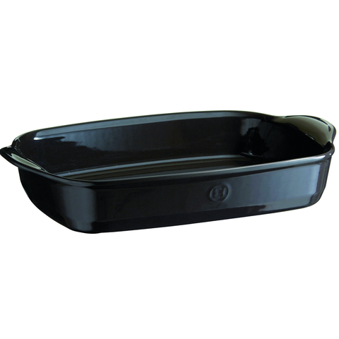 EMILE HENRY ULTIME RECTANGLE BAKING DISH, LARGE - CHARCOAL