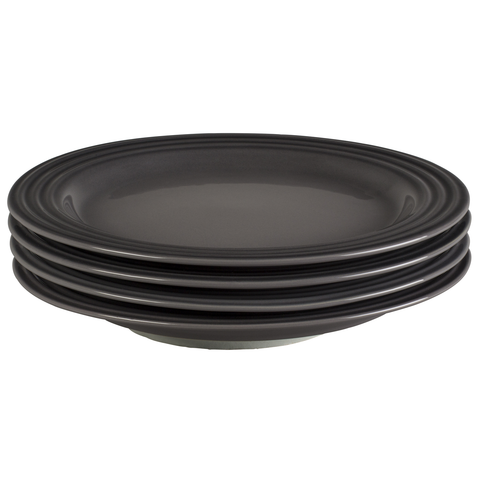 LE CREUSET 8-½'' SALAD PLATES, SET OF 4 - OYSTER