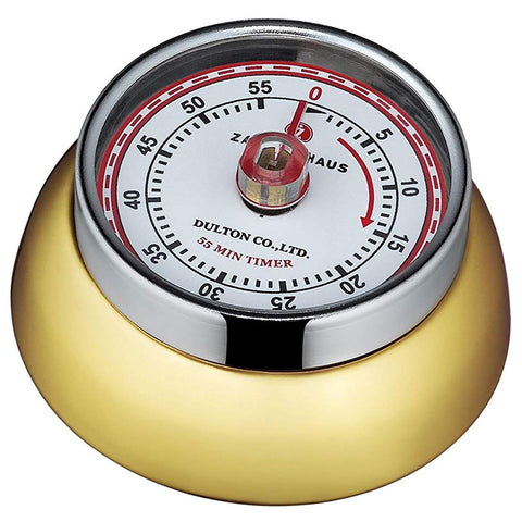 "Zassenhaus Kitchen Timer ""Retro"", Brass"