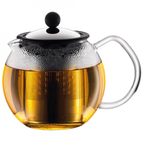 BODUM ASAM 17-OUNCE TEA PRESS - CHROME