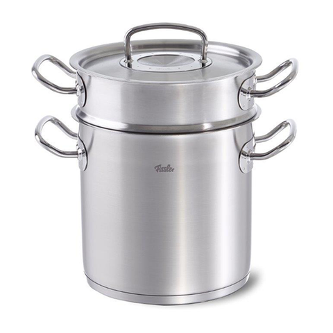 Fissler 6.3qt original profi Multi Purpose Pasta Pot and Steamer Set