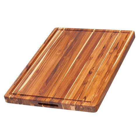 Teakhaus Cutting Board - Rectangle Board With Hand Grip And Juice Canal
