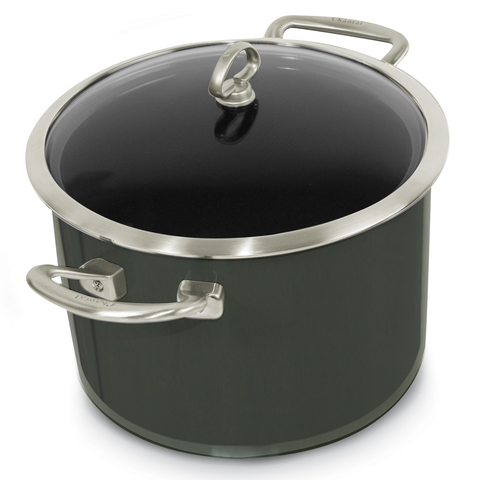 Chantal Copper Fusion 8-Quart Stockpot with Lid, Onyx