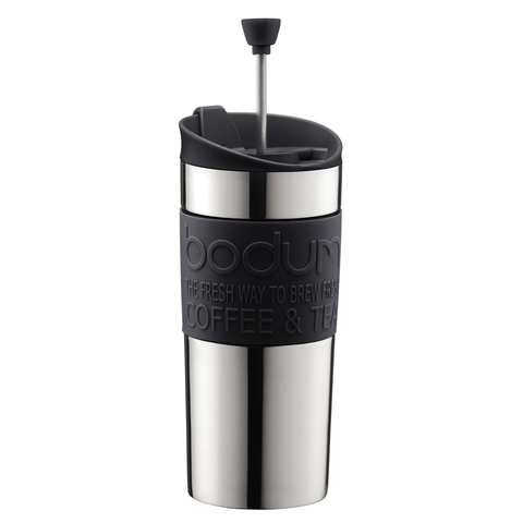 Bodum 15-Ounce Travel French Press Mug, Black