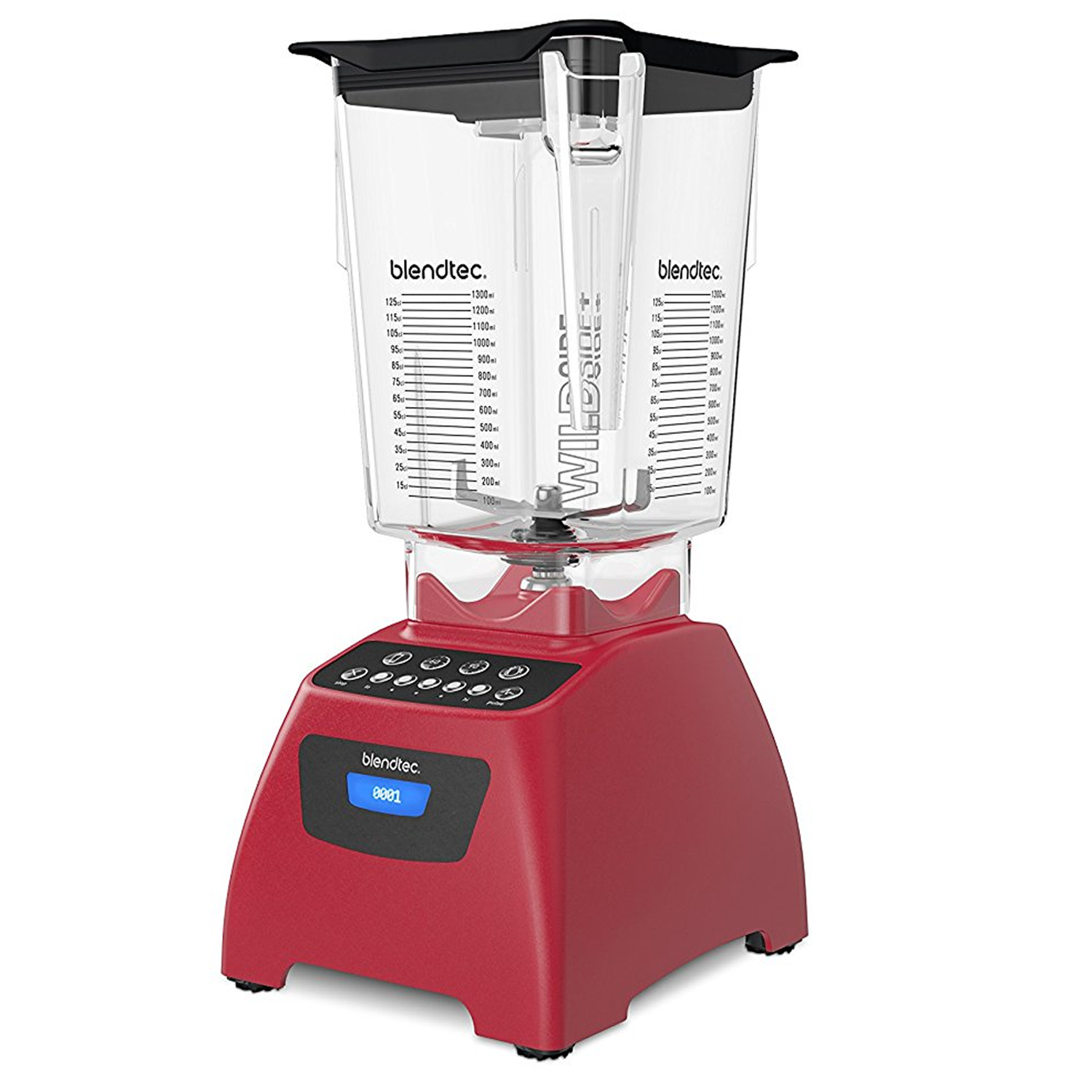 Blendtec Classic 575 Blender with 90 oz WildSide+ Jar, Poppy Red