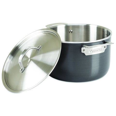 Viking 5-Ply Hard Stainless Stockpot with Hard Anodized Exterior, 7 Quart