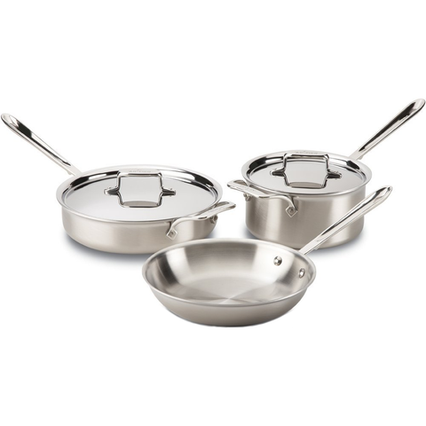 ALL-CLAD D5® BRUSHED STAINLESS 5-PIECE COOKWARE SET