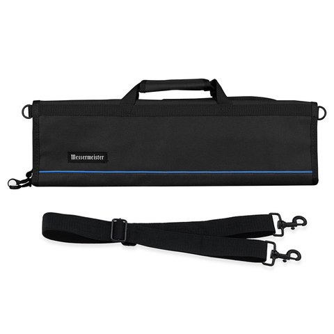 MESSERMAISTER 8-POCKET PADDED KNIFE ROLL - BLACK