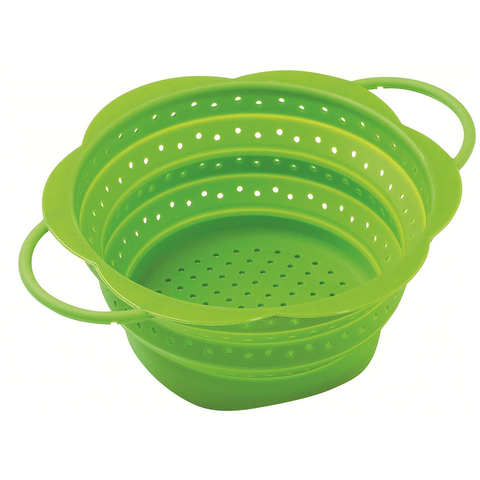 KUHN RIKON COLLAPSIBLE 7.5'' COLANDER SMALL - GREEN
