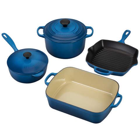 LE CREUSET 6-PIECE SIGNATURE SET - MARSEILLE