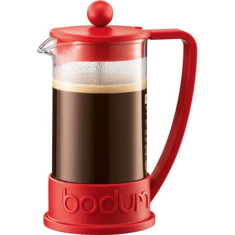 BODUM BRAZIL 3-CUP FRENCH PRESS - RED