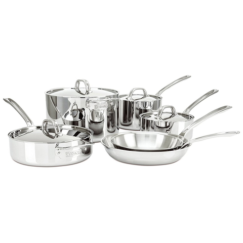 Viking 3-Ply Stainless Steel Cookware Set, 10 Piece