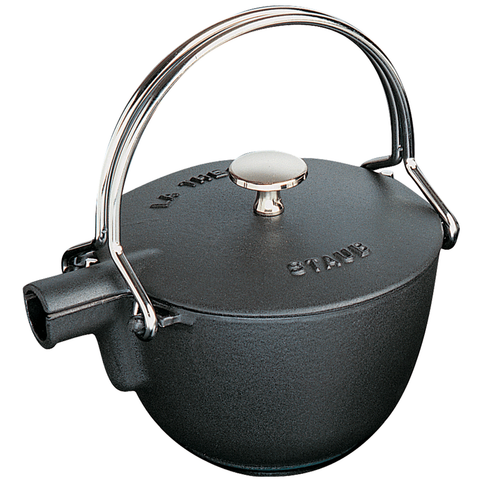 STAUB CAST IRON 1-QUART ROUND TEA KETTLE - MATTE BLACK