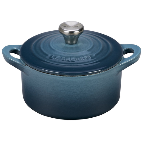 Le Creuset Enameled Cast Iron 1/3 qt. Mini Cocotte with Stainless Steel Knob - Marine