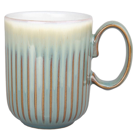 DENBY REGENCY GREEN FLUTED MUG