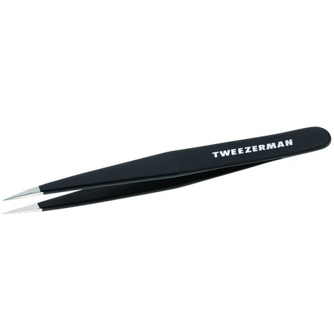 TWEEZERMAN STAINLESS STEEL POINT TWEEZER IN ASSORTED COLORS
