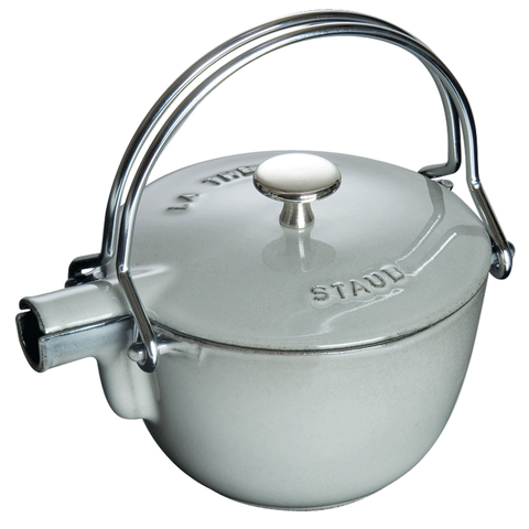 STAUB CAST IRON 1-QUART TEA KETTLE - GRAPHITE GREY