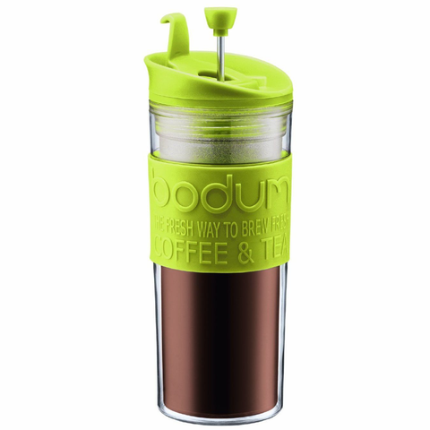 BODUM 15-OUNCE TRAVEL MUG - GREEN