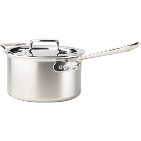 ALL-CLAD D5® STAINLESS BRUSHED 4-QUART SAUCE PAN
