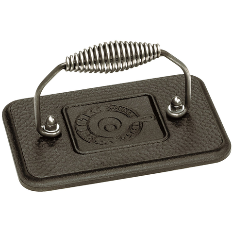 LODGE 6.75'' x 4.5'' RECTANGULAR CAST IRON GRILL PRESS