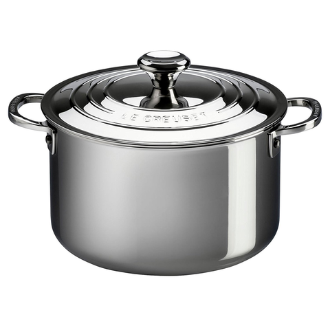 LE CREUSET 4-QUART STAINLESS STEEL STOCKPOT