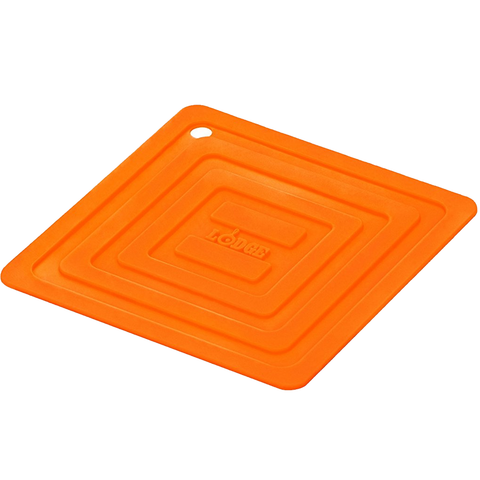 LODGE SILICONE SQAURE POT HOLDER, ORANGE