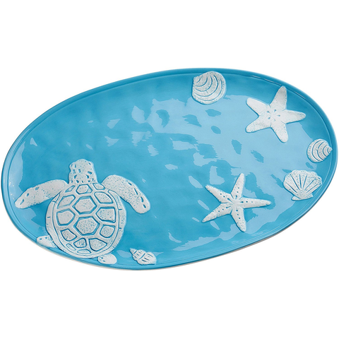 AMICI HOME COASTAL BRIGHT OVAL PLATTER
