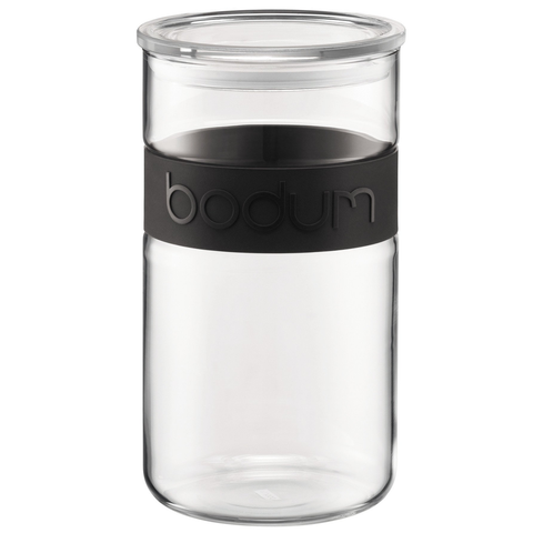 Bodum Presso 34-Ounce Storage Jar, Black