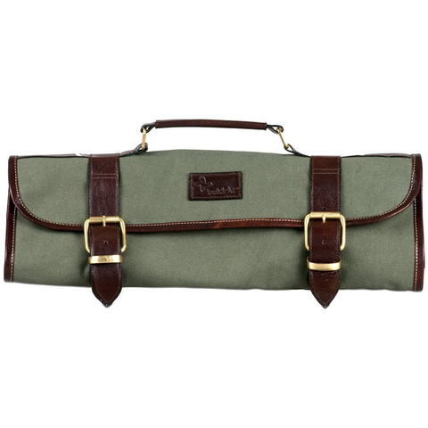 BOLDRIC 9-POCKET ROLL KNIFE BAG - GREEN