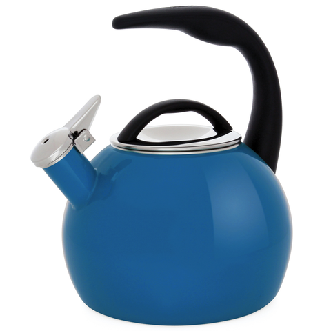 CHANTAL 2-QUART ENAMEL-ON-STEEL ANNIVERSARY TEAKETTLE - PEACOCK BLUE