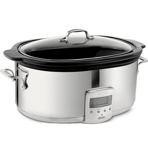 ALL-CLAD SLOW COOKER 6.5-QUART WITH BLACK CERAMIC INSERT