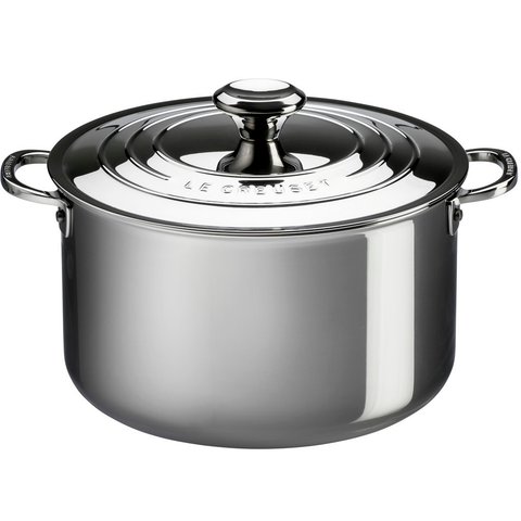 LE CREUSET 7-QUART STAINLESS STEEL STOCKPOT