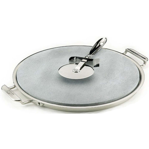 ALL-CLAD PIZZA BAKER WITH SERVING TRY & PIZZA CUTTER