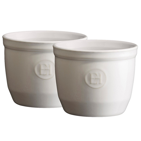 EMILE HENRY 6.75-OUNCE RAMEKIN FLOUR, SET OF 2