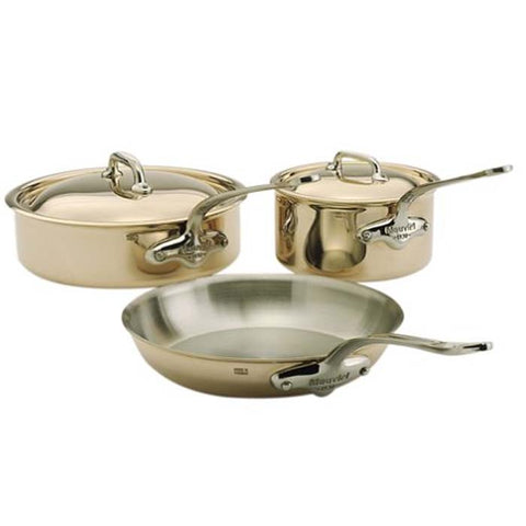 MAUVIEL CUPRINOX STYLE 5-PIECE COPPER COOKWARE SET