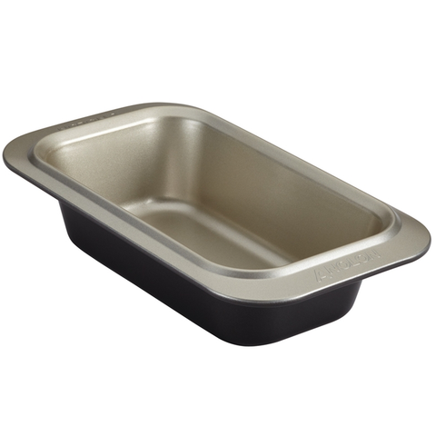 ANOLON 9-INCH X 5-INCH LOAF PAN, PEWTER/ONYX