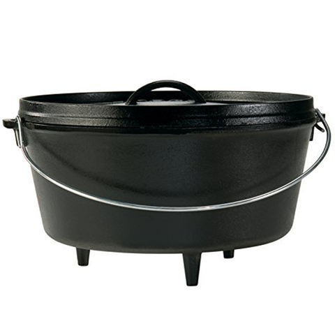 LODGE 12''/8-QUART DEEP CAMP DUTCH OVEN
