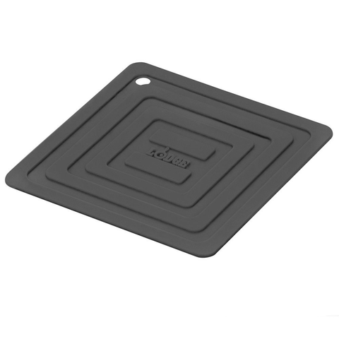 LODGE SILICONE SQUARE POT HOLDER, BLACK