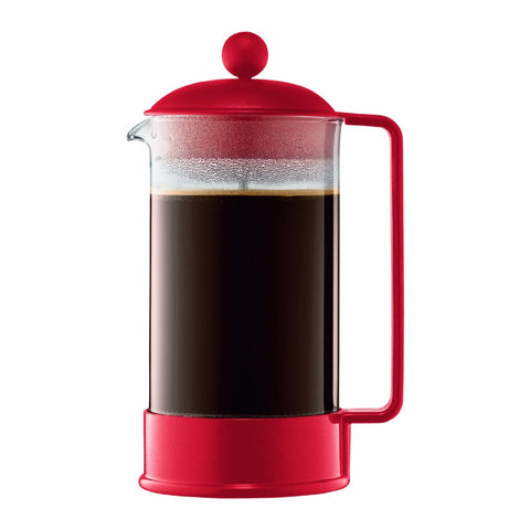 BODUM BRAZIL 8-CUP FRENCH PRESS - RED