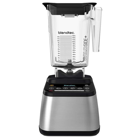 Blendtec Designer 725 Blender with 90 oz WildSide+ Jar, Stainless Black