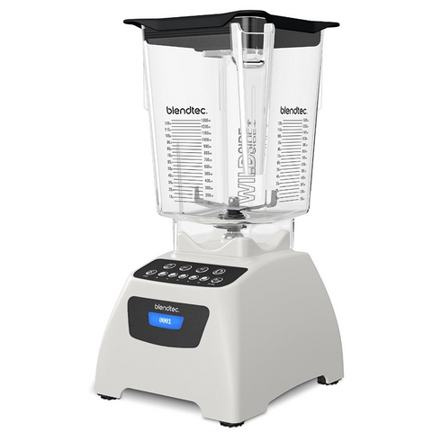 Blendtec Classic 575 Wildside+ Jar Blender - Polar White
