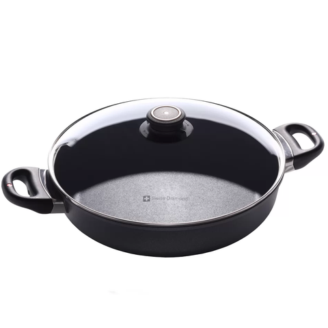 SWISS DIAMOND 3.7-QUART NONSTICK SAUTEUSE WITH LID