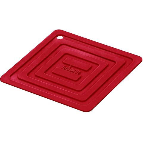 LODGE SILICONE SQUARE POT HOLDER, RED
