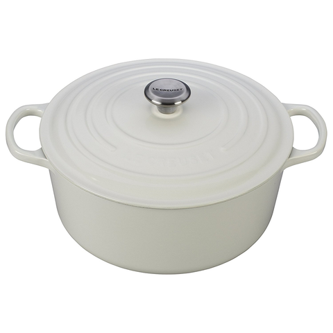 LE CREUSET 9-QUART ROUND DUTCH OVEN - WHITE