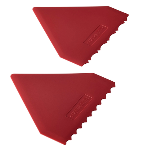 CAKE BOSS 2-PIECE PLASTIC ICING COMB SET, RED