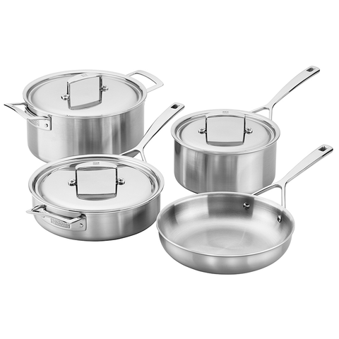 ZWILLING J.A. HENCKELS AURORA 5-PLY STAINLESS STEEL 7-PIECE COOKWARE SET