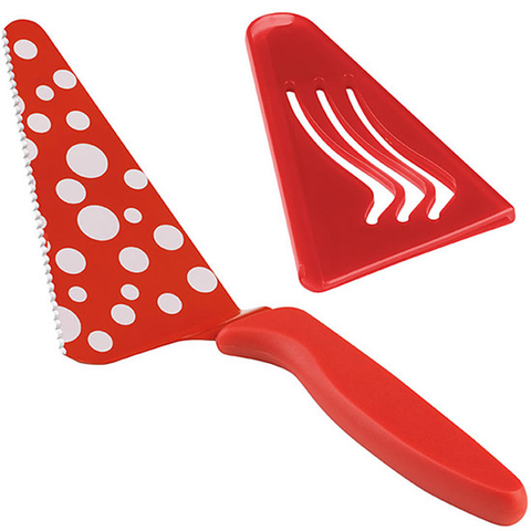 KUHN RIKON WEDGE SLICE & SERVE POLKA DOT